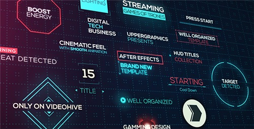Cinematic HUD Titles - After Effects Project (Videohive)