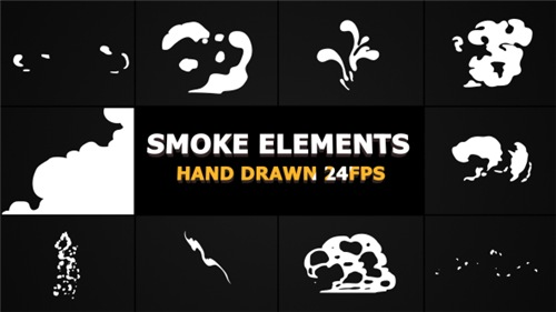 Cartoon Smoke Elements And Transitions - After Effects Project (Videohive)