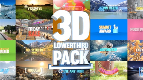 3D Lowerthird Title Pack - After Effects Project (Videohive)