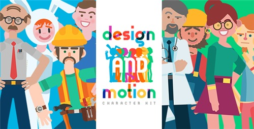 Design and Motion Character Kit - After Effects Project (Videohive)