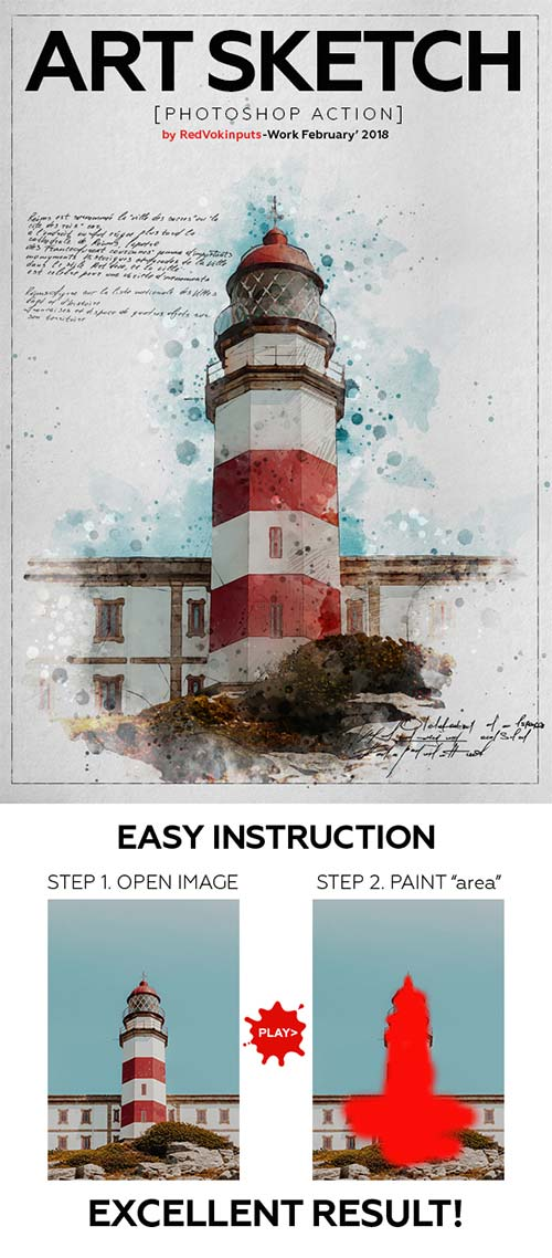 GraphicRiver Art Sketch Photoshop Action
