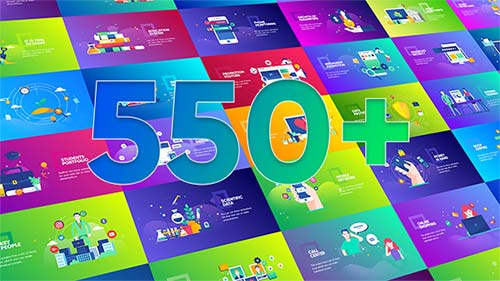 Flat Design Concepts Package - After Effects Project (Videohive)
