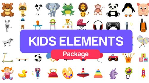 Kids Elements Package - After Effects Project (Videohive)