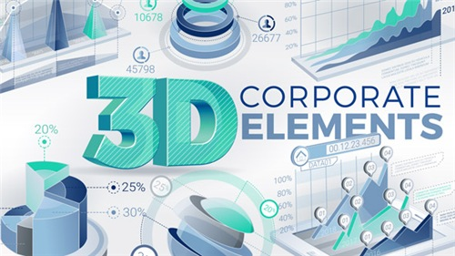 3D Corporate Elements - After Effects Project (Videohive)