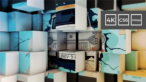 3D Cubes Wall Slideshow in 4K - After Effects Project (Videohive)