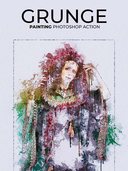 GraphicRiver Grunge Painting Photoshop Action