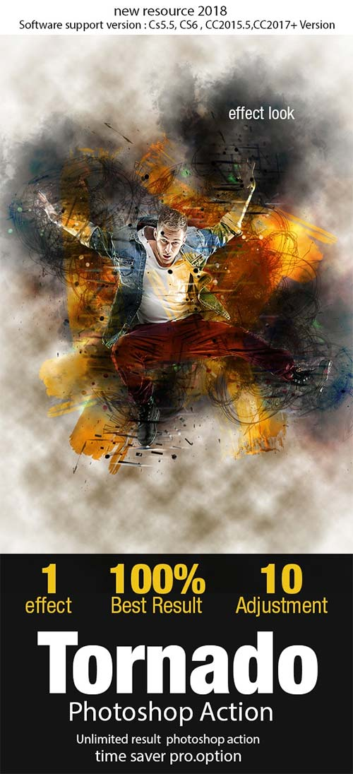 GraphicRiver Tornado Photoshop Action 21888262