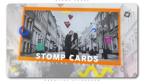 Stomp Cards Parallax Opener - After Effects Project (Videohive)