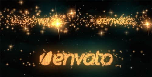 Logo & Text Intro - Glitters - After Effects Project (Videohive)
