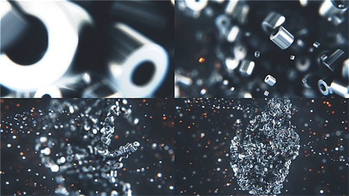Metalic Particles Logo - After Effects Project (Videohive)