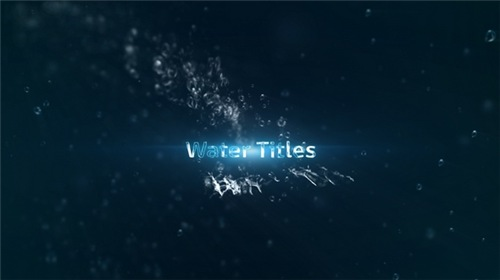 Water Titles - After Effects Project (Videohive)