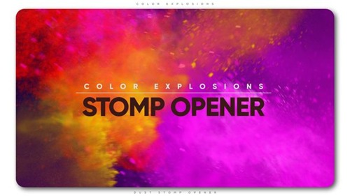 Color Explosions Stomp Opener - After Effects Project (Videohive)
