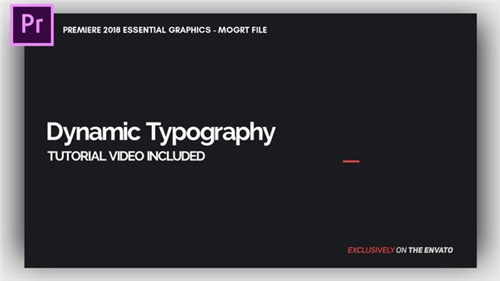Dynamic Minimalism - Essential Graphics | Mogrt - Premiere Pro Template (Videohive)