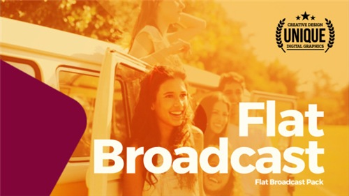 Flat Broadcast Pack - After Effects Project (Videohive)