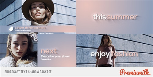 Broadcast Text Shadow Package - After Effects Project (Videohive)