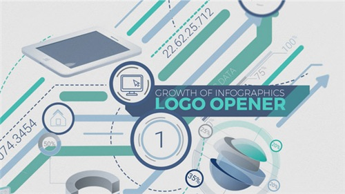 Growth Of Infographics Logo Opener - After Effects Project (Videohive)