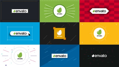 9 Flat Logo Openers - After Effects Project (Videohive)