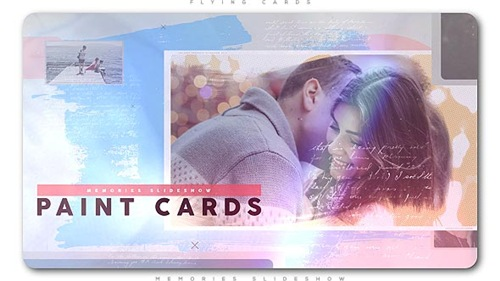 Painted Cards of Memories Slideshow - After Effects Project (Videohive)