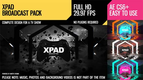 XPaD (Broadcast Pack) - After Effects Project (Videohive)