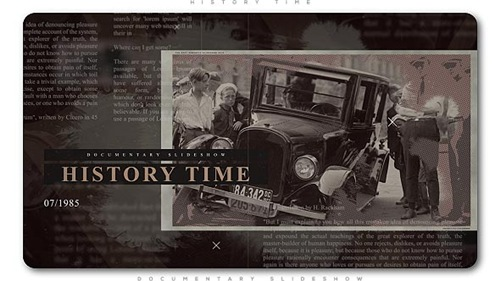 History Time Documentary Slideshow - After Effects Project (Videohive)