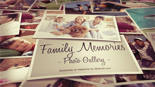 Photo Gallery - Family Memories - After Effects Project (Videohive)