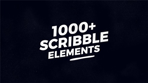 1000 Scribble Elements - After Effects Project (Videohive)