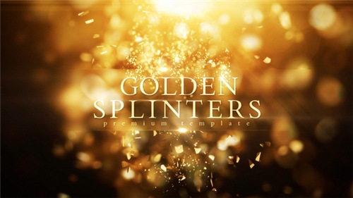 Golden Splinters - After Effects Project (Videohive)