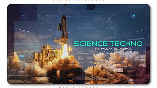 Science Techno Parallax Slideshow - After Effects Project (Videohive)