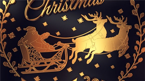 Gold Christmas Greetings - After Effects Project (Videohive)