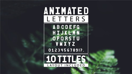 Animated Letters & 10 Titles Layout - After Effects Project (Videohive)