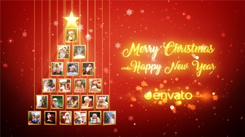 Christmas Tree Photos Opener - After Effects Project (Videohive)