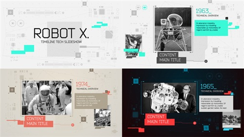 Robot X. Timeline Slideshow - After Effects Project (Videohive)