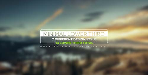 Minimal Lower Thirds - After Effects Project (Videohive)
