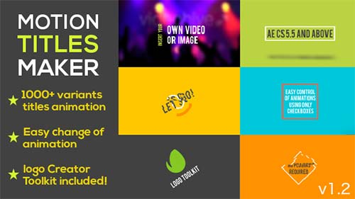 Motion Titles Maker - After Effects Project (Videohive)