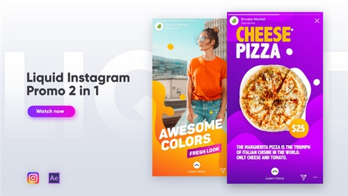 Liquid Instagram Promo 2 in 1 - After Effects Project (Videohive)