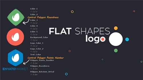 Flat Shapes Logo - After Effects Project (Videohive)