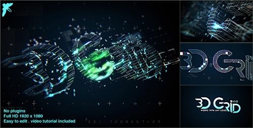 3D Grid Logo - After Effects Project (Videohive)