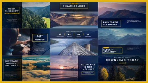 Dynamic Minimal Slides - After Effects Project (Videohive)