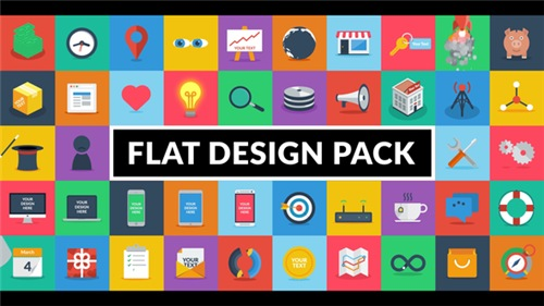 Flat Design Pack - After Effects Project (Videohive)