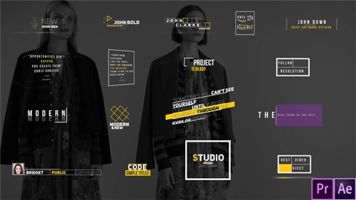 Modern Titles 23035249 - After Effects Project (Videohive)