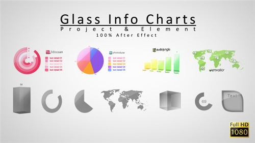 Glass Info Charts - After Effects Project (Videohive)
