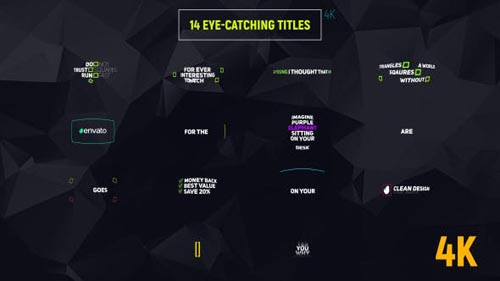 14 Eye-catching Titles - After Effects Project (Videohive)