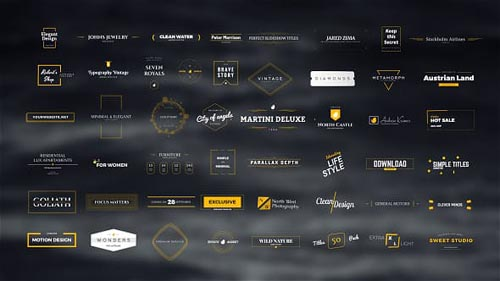 50 Original & Classy Titles Pack - After Effects Project (Videohive)