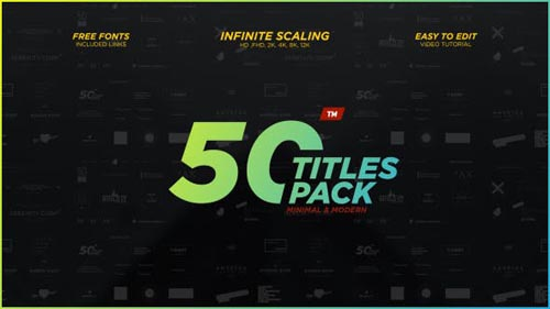 50 Minimal & Modern Titles Pack - After Effects Project (Videohive)