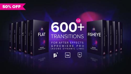 Pixelland Transitions Pack - After Effects Project (Videohive