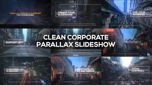 Clean Corporate Parallax Slideshow - After Effects Project (Videohive)