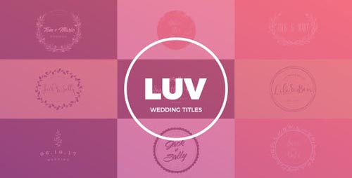Wedding Titles 19477052 - After Effects Project (Videohive)