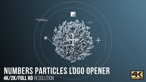 Numbers Particles Logo Opener - After Effects Project (Videohive)