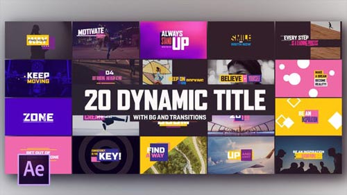 Dynamic Modern Titles I Backgrounds - After Effects Project (Videohive)