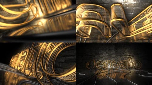 Dark Rejected Element 3D Logo Opener - After Effects Project (Videohive)